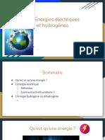 Energie electrique et hydrogene