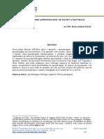 REFLEXÕES SOBRE APRENDIZAGEM- DE PIAGET A MATURANA  (1)