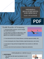 Swimming Health Benefits and Officials