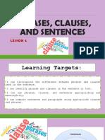 Lesson 4-Phrases, Clauses, Sentences
