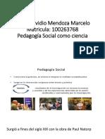 Pedagogía Social Como Ciencia