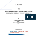 """A STUDY ON COMPETENCY MAPPING OF THE EMPLOYEES OF RELIANCE MUTUAL FUND"""""""