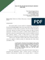 A ESCOLA NORMAL NO SUL DO ESTADO DE MATO GROSSO (1930-1950)