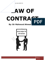 Law of Contract(English Variant) -- Mahmood Ahmed Khan