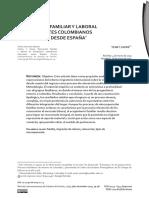 Reinserción Familiar y Laboral de Inmigrantes Colombianos Retornados Desde España