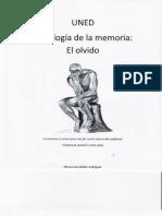 El olvido - Psicologia de la Memoria