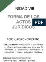 FORMA DE ACTOS JURÍDICOS