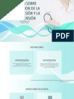 CHARLA SOBRE PREVENCION DE LA HIPERTENSION Y LA HIPOTENSION
