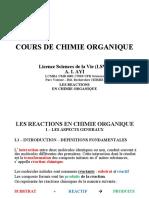 Cours4_Les_Reactions_Chimie_Organique_Part1