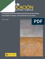 Artículo de Revista - La formación inicial de profesores de Educación Secundaria - Flavia Terigi