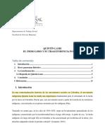 Trabajo Final sobre QUINTÍN LAME EL INDIO LOBO Y SU TRASCENDENCIA POLÍTICA