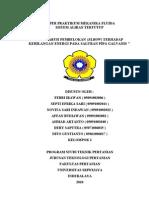 Sistem Aliran Tertutup (Paper Praktikum Mekanika Fluida Kelompok 1) Teknik Pertanian UNSRI