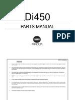 Parts Manual Di450