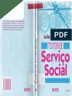 TEXTOS DE SERVIÇO SOCIAL