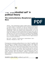 The 'disembodied self' in political theory