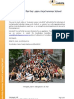 Leadership Summerschool 2011 Amsterdam - Call for Participants