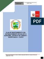 PLAN DE MANTENIMIENTO DE CS CAMANTI