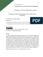 2016 - Programas de intervenção precoce - o que dizem as teses e dissertações
