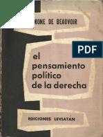 Beauvoir, Simone (1956) - El pensamiento político de la derecha