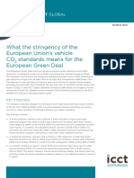 What the stringency of the European Union's vehicle CO2 standards means for the European Green Deal