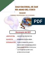DICCIONARIO DE LA ESTRUCTURA DE DESGLOSE DEL TRABAJO_tarea final