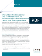 Was unterschiedlich strenge CO2-Flottenzielwerte für Neufahrzeuge zum europäischen Green Deal beitragen können