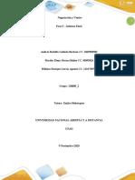 Trabajo colaborativo paso 5 informe final
