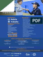 Convocatoria policía y tránsito municipal León 2021