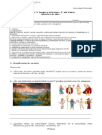 Guía n°4 Repaso para 8° - Escritura texto narrativo mito - Red diagnóstica