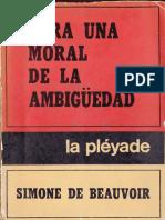 Beauvoir, Simone (1972) - Para una moral de la ambigüedad