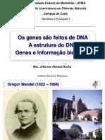 Genes, historia e estrutura do DNA
