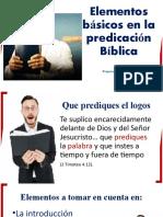 Elementos Básicos de La Predicación