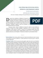 Técnicas Texto Complement. Para Pensar Uma Sociologia Digital - Entrevista Com Dominique Cardon
