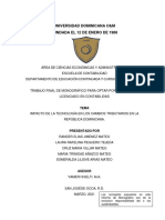 Impacto de La Tecnología en Los Cambios Tributarios en La República Dominicana.