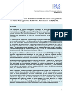 Detectan nuevas variantes de Coronavirus en Argentina