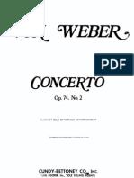 Weber Clarinet -Piano Concerto No.2 in Eb, Op. 74