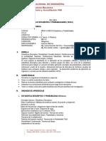 Silabo de Estadistica y Probabilidades 2020 II