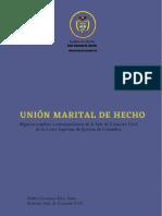 Union Marital de Hecho - Estudios Contemporaneos C.S.J.