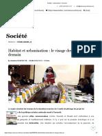 Habitat - urbanisation _ Yaounde