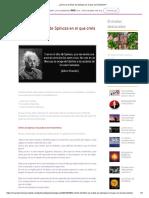 ¿Cómo es el Dios de Spinoza en el que creía Einstein_