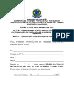 Anexo IV Formulario Para Pedido de Isencao Da Taxa de Inscricao