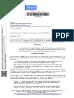 Transporte – Aplicación de la Sentencia C- 038 del 2020  - 20201340430581 - JUAN JAIME PERALTA MARTINEZ