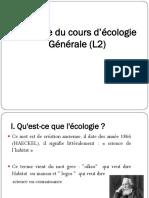 Resumé cours_Ecologie