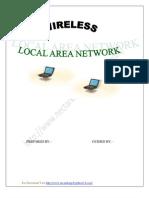 Seminar Report On Wireless Local Area Network