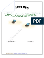 Seminar Report On Wireless Local Area Network