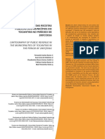 Receitas públicas dos municípios do Tocantins
