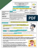 GUIA N°1 PACTOS Y PARTICIPACION, COSNTITUCION (5°) PERIODO 1