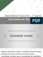 Matemática Financeira_1º Parte