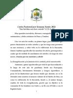 Carta Pastoral Semana Santa 2021