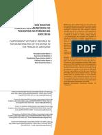 - Receitas Públicas Dos Municípios Do Tocantins, 2007 a 2016
